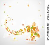 Autumn Abstract Background Wit...