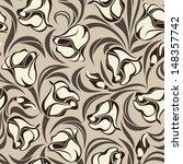 floral seamless pattern. vector ... | Shutterstock .eps vector #148357742