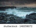 Stormy Tide In Westman Islands  ...