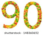 isolated image of numbers... | Shutterstock . vector #148360652