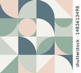 pattern in scandinavian style.... | Shutterstock .eps vector #1483613498