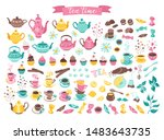 tea time elements collection.... | Shutterstock .eps vector #1483643735