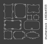set of hand drawn picture... | Shutterstock .eps vector #148364555