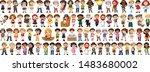 children with different...   Shutterstock .eps vector #1483680002