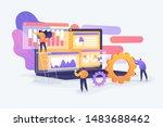 market statistics analysis ... | Shutterstock .eps vector #1483688462
