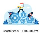 team building and leadership....   Shutterstock .eps vector #1483688495