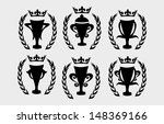 champions cup icon vector art | Shutterstock .eps vector #148369166