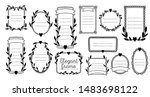 collection frame wedding design ... | Shutterstock .eps vector #1483698122