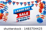 happy labor day sale 50  off... | Shutterstock .eps vector #1483704425