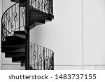 Spiral Iron Staircase With...