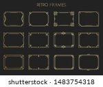 gold retro frames. style of... | Shutterstock .eps vector #1483754318