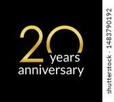 20 years anniversary...   Shutterstock . vector #1483790192