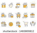 set of gift box icons  such as... | Shutterstock .eps vector #1483800812