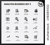 business and analysis icon set...   Shutterstock .eps vector #148385432