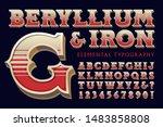 ornate vintage 3d font alphabet ...   Shutterstock .eps vector #1483858808