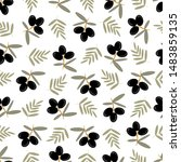 seamless olive pattern. bunch... | Shutterstock .eps vector #1483859135