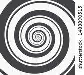 hypnotic spiral background. two ... | Shutterstock .eps vector #1483890515