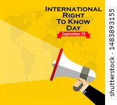 international right to know day ... | Shutterstock .eps vector #1483893155