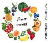 watercolor illustration of... | Shutterstock . vector #1483898642