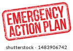 emergency action plan. red... | Shutterstock .eps vector #1483906742