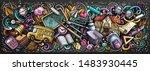 school doodles chalkboard... | Shutterstock . vector #1483930445