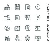 compliance line icon set with...   Shutterstock .eps vector #1483943912