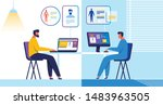 patient  doctor and medical...   Shutterstock .eps vector #1483963505