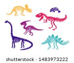 Dinosaur Skeleton Fossils Set...
