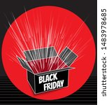 black friday inscription on... | Shutterstock .eps vector #1483978685