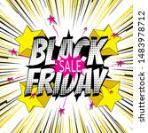 black friday sales banner.... | Shutterstock .eps vector #1483978712