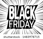 inscription black friday on... | Shutterstock .eps vector #1483978715