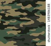 classic camouflage seamless... | Shutterstock .eps vector #1483986188