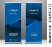 roll up banner stand template... | Shutterstock .eps vector #1483987172
