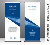 roll up banner stand template... | Shutterstock .eps vector #1483987175