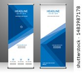 roll up banner stand template... | Shutterstock .eps vector #1483987178