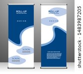 roll up banner stand template... | Shutterstock .eps vector #1483987205
