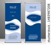 roll up banner stand template... | Shutterstock .eps vector #1483987208