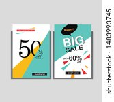 illustration of banner sale... | Shutterstock .eps vector #1483993745