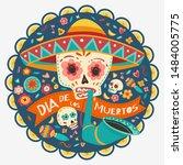 day of the dead  dia de los... | Shutterstock .eps vector #1484005775
