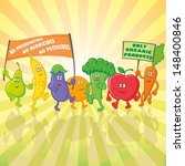 vegetable and fruit characters... | Shutterstock .eps vector #148400846