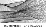 halftone banner header with... | Shutterstock .eps vector #1484013098