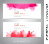 design banner with watercolor... | Shutterstock .eps vector #1484013485