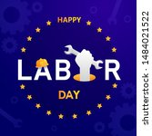 labor day in america background ... | Shutterstock .eps vector #1484021522