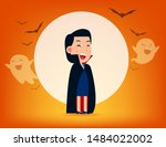 cute dracula character with old ...   Shutterstock .eps vector #1484022002