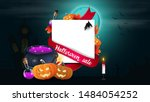 halloween sale  template for... | Shutterstock .eps vector #1484054252