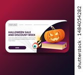 halloween sale  and discount... | Shutterstock .eps vector #1484054282