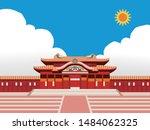 illustration of castle  shuri... | Shutterstock .eps vector #1484062325