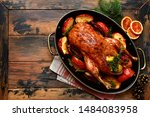 Roast Goose Stuffed With Baked...