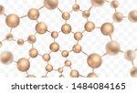 3d molecules vector design.... | Shutterstock .eps vector #1484084165