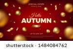 autumn sale banner background... | Shutterstock .eps vector #1484084762
